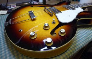 Epiphone Casino with wiring for Radio Shop pickups and hardware replaced