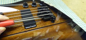 Adjusting the intonation of a Gibson Firebird Bass