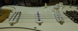 Looking at the pickup heights on a fender stratocaster